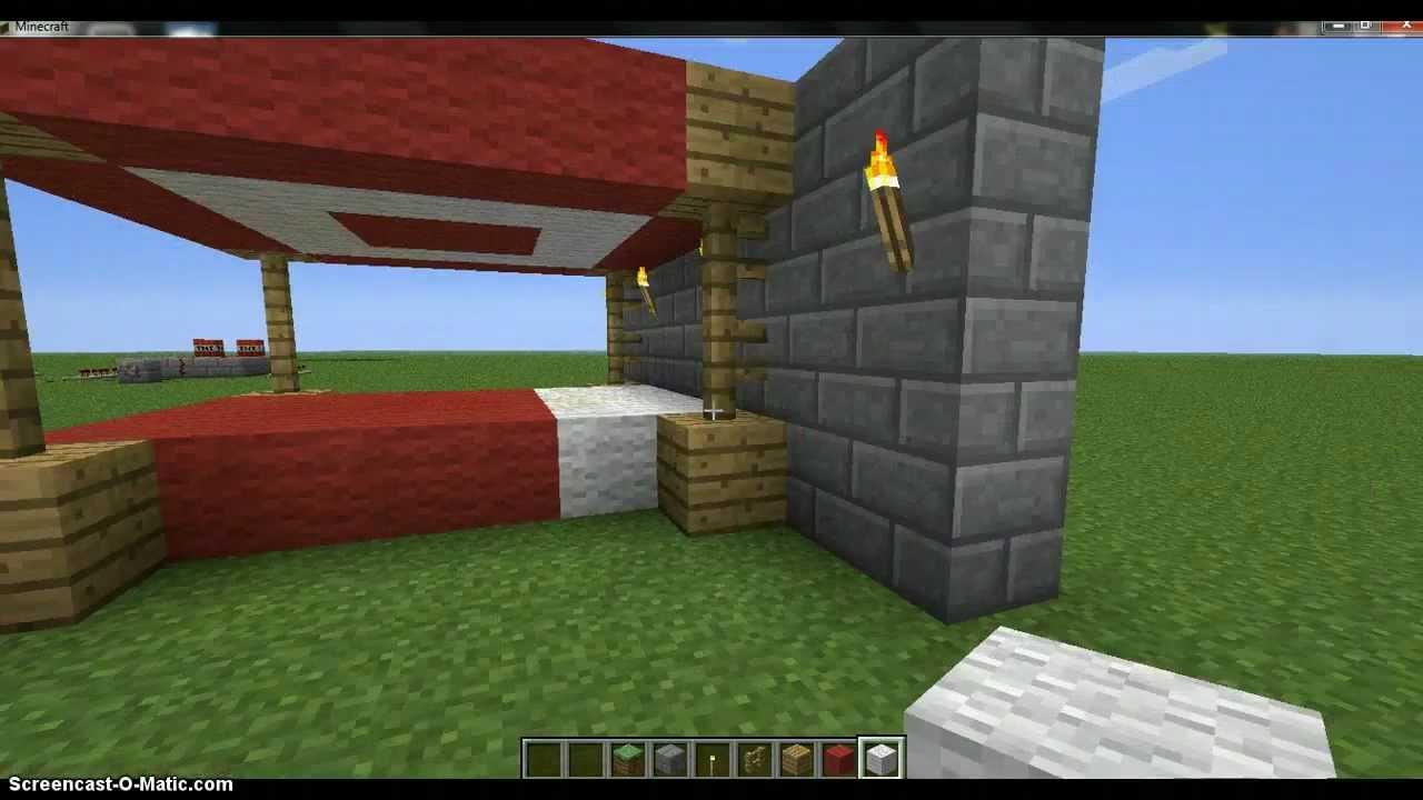 Como hacer una cama lujosa en minecraft youtube for Construir una pileta de material