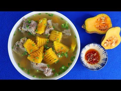 Cách nấu CANH BÍ ĐỎ HẦM XƯƠNG Vừa Ngon Vừa Bổ – Món Ăn Ngon