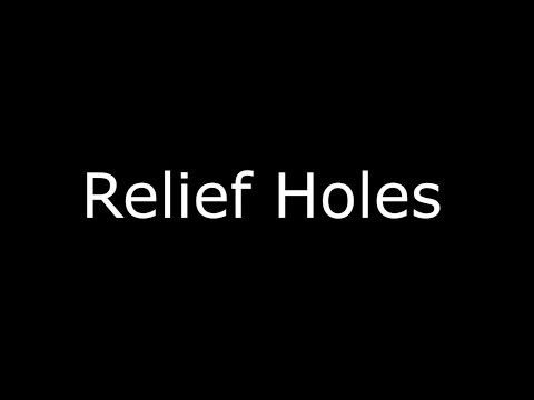 Creating relief holes when making pillar candles