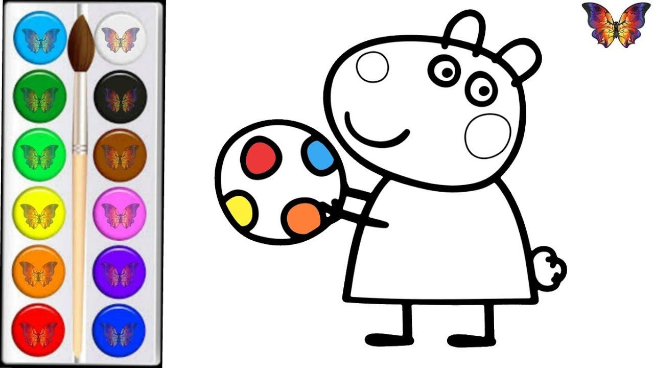 Раскраска для детей ОВЕЧКА СЬЮЗИ из мультика СВИНКА ПЕППА ...