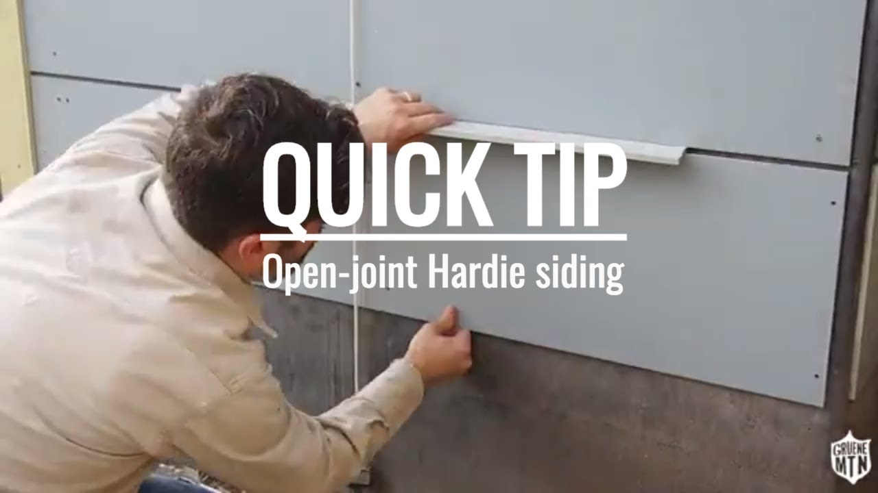 QUICK TIP | open-joint Hardie siding