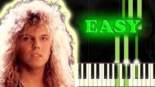 EUROPE - THE FINAL COUNTDOWN - Easy Piano Tutorial