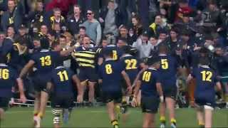 Winning drop goal for Auckland Grammar vs St Peters College