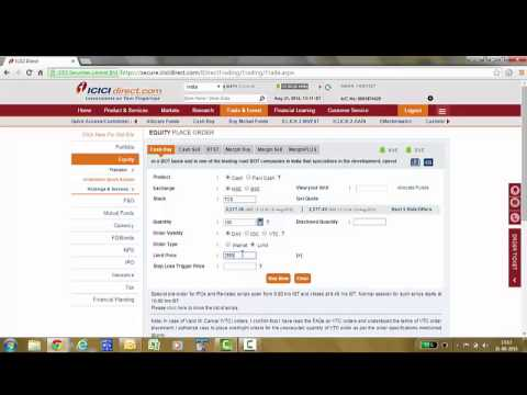 How to trade in Equity through ICICIDirect