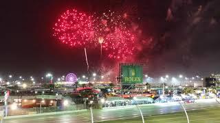 2018 Rolex 24 hours fireworks