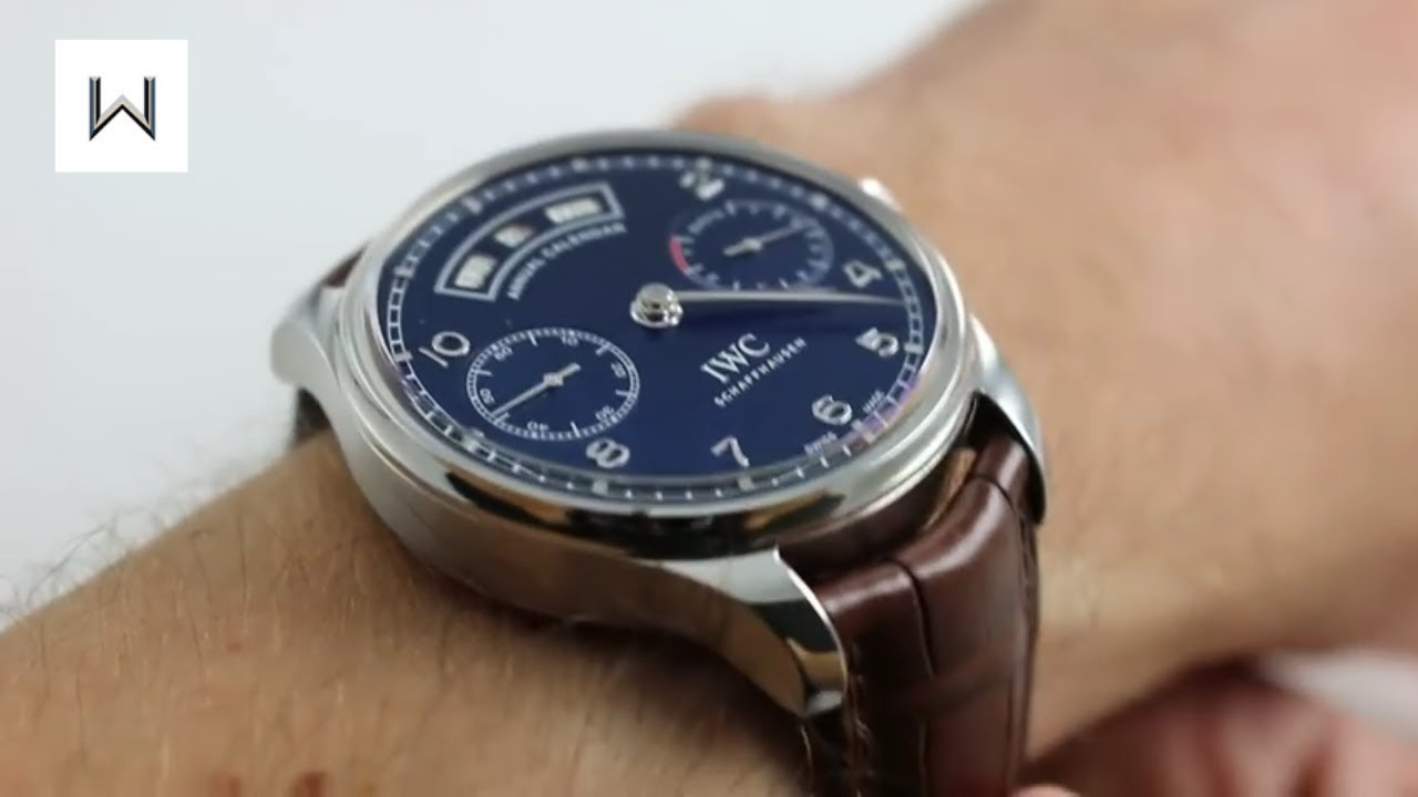 watch authentic annual watches big edition s calendar pilot used iwc limited products