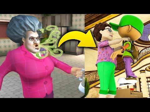 Новая Бабка Учительница Мисс Ти! - New Scary Teacher 3D