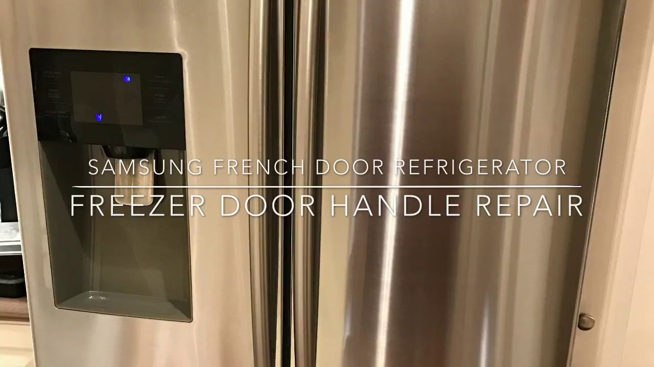 hight resolution of samsung french door style freezer handle fix