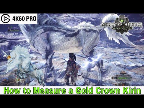 Monster Hunter: World - How to Measure a Gold Crown Kirin