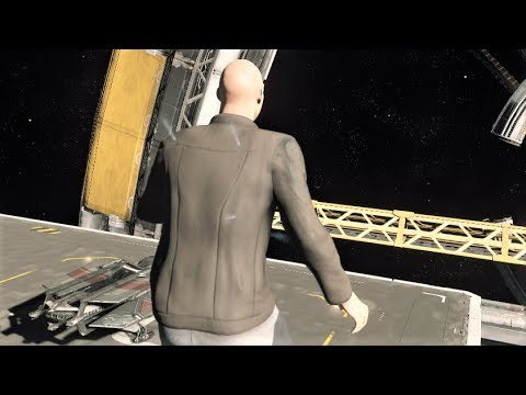 Star Citizen Let's Play - Olisar flying - Missions - Misc Starfarer two in the same landing pad..