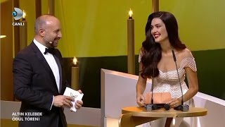 Berguzar Korel and Halit Ergenc Pantene Altin kelebek 2015