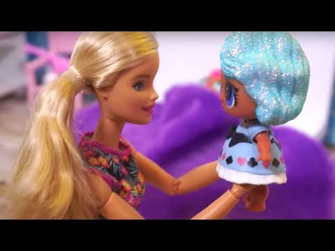 BARBIE Helps LOL SURPRISE DOLLS Get Ready For School, Morning Routine, Night Routine