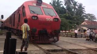 Train crossing in Sri Lanka