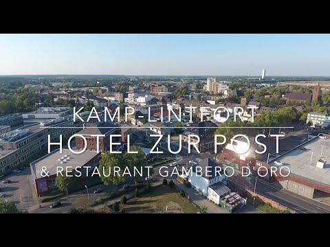 Kamp-Lintfort Hotel zur Post, Restaurant Cambero d'Oro, Kloster Kamp, Drohne