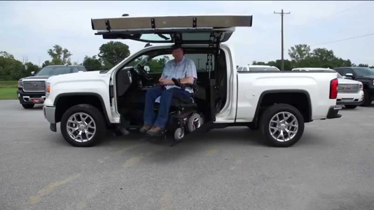 wheelchair lift for truck folding sport chairs heavy duty atc 45 degree youtube