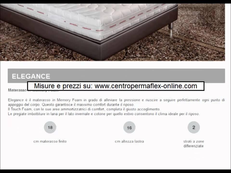 Scheda materasso permaflex elegance - YouTube