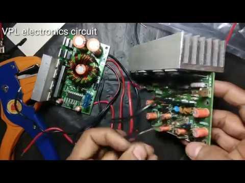 200watt  Car Power Supply And Audio Board For Bass Tube Salcon