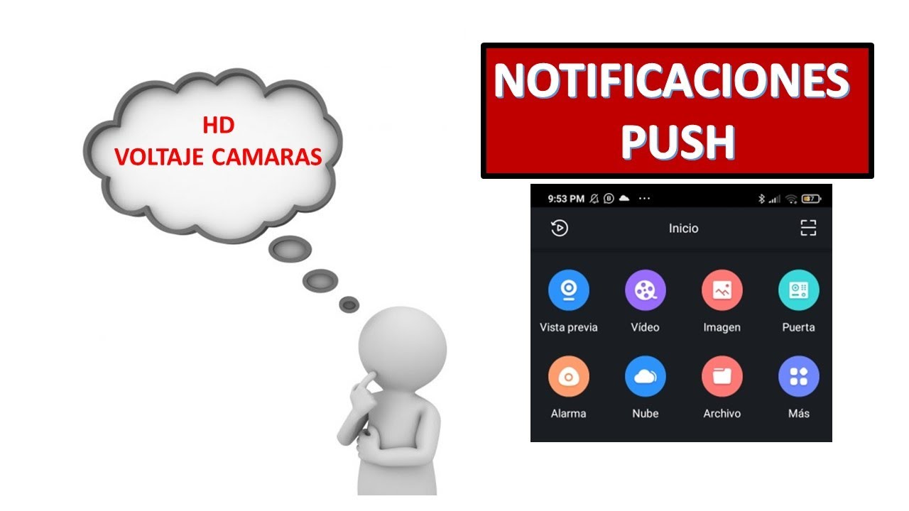 Notificación PUSH, Dahua, HD,Voltaje cámaras