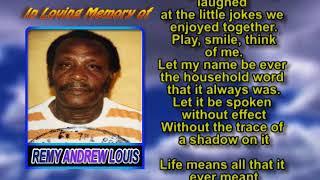Remy Andrew Louis memorial