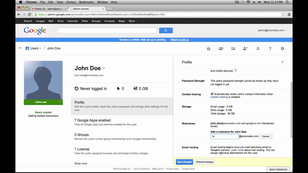 Google Apps for Business Tutorial 2013 - User Managet - YouTube