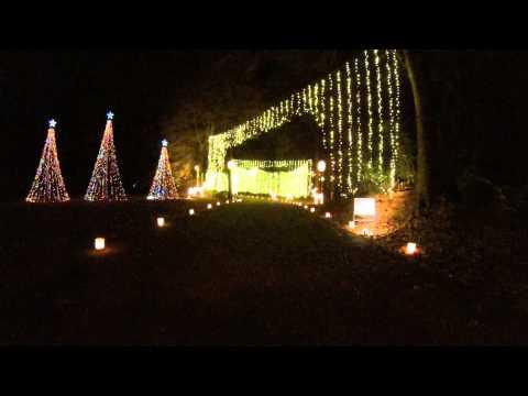 GoPro HD:  Christmas Lights Huntsville Botanical Garden - Galaxy of Lights
