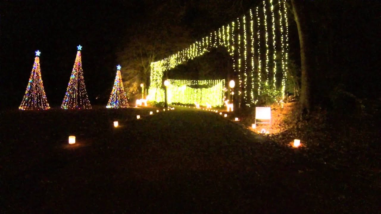 Gopro Hd Christmas Lights Huntsville Botanical Garden Galaxy Of Lights Youtube