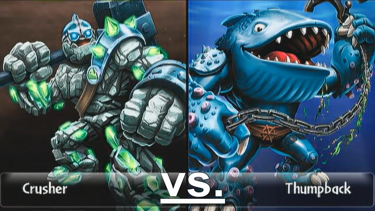 Crusher 12 vs thumpback 15 skylanders giants duellmodus german deutsch youtube - Skylanders thumpback ...