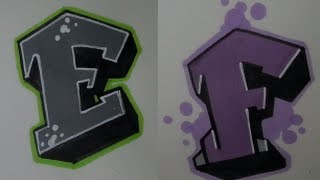 Simple Graffiti Tutorial step by step #3 - How to draw E and F