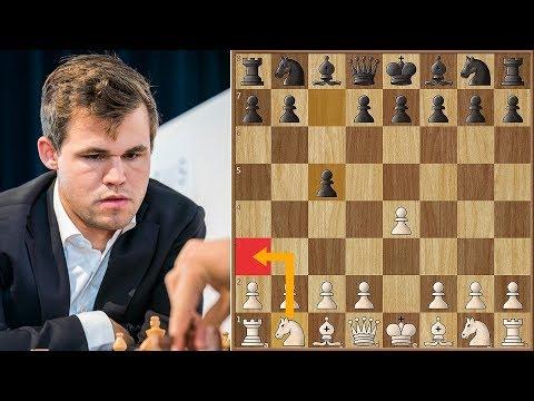 World Champion Plays 2. Na3! | Carlsen vs Georgiadis | Biel Chess 2018