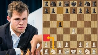 World Champion Plays 2. Na3! | Carlsen vs Georgiadis | Biel Chess 2018