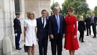 Donald Trump arrives in Paris at the invitation of France's president, Emmanuel Macron thumbnail