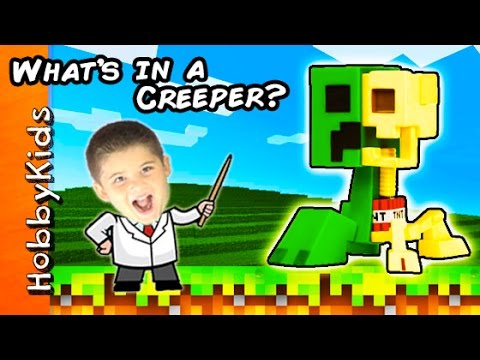 Science Lab: What's Inside a Minecraft CREEPER Toy?