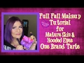FULL FACE MAKEUP TUTORIAL   PERFECT FOR MATURE SKIN AND HOODED EYES  ONE BRAND~TARTE #MATURESKIN  