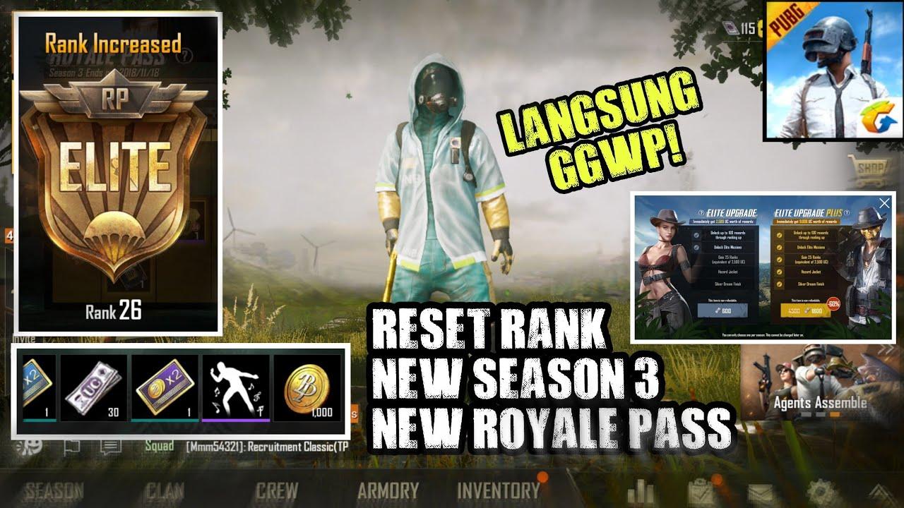 Update Royale Pass Season 3 Dan Reset Rank Pubg Mobile