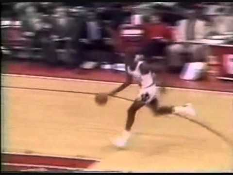 Michael Jordan Breakaway Two Handed Reverse Dunk/Love Tap on Referee (1987 vs. Nets)