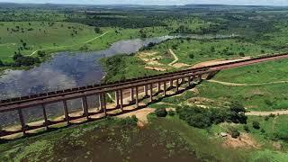 Vista aérea do Banho e Ponte do 40 em Açailândia - MA
