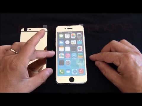 Pellicola vetro colorata fronte & retro iPhone 6 & 6 Plus
