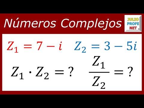 Multiplicación y división de números complejos