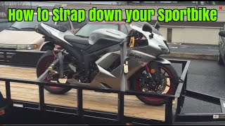 How to trailer your sport bike: srkcycles.com
