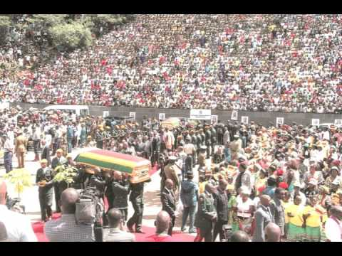 President Mugabe's speech at the burial of Comrades Victoria Fikile Chitepo and Vivian Mwashita