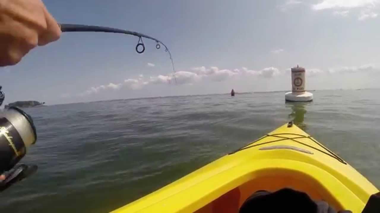 Kayak fishing long island sound youtube for Long island sound fishing report