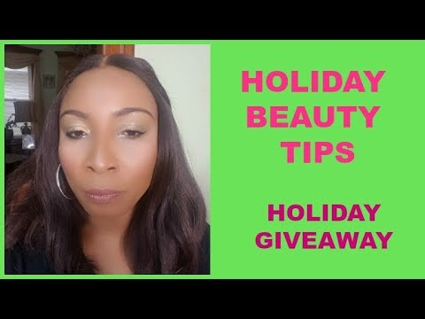 HOLIDAY BEAUTY TIPS AND MORE  HOLIDAY GIVEAWAY  Sunday Chit Chat WITH  Khichi Beauty