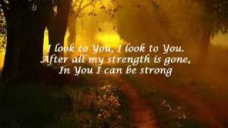 GLEE - I look to You (HQ with lyrics)