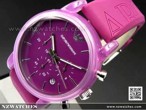 Emporio Armani Purple Silicone Strap Unisex Watch AR1059. NZwatches a4e288aa8db5