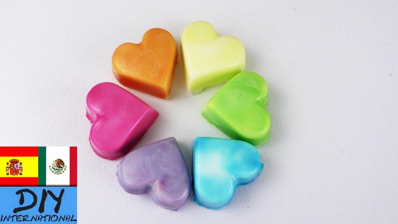 como hacer jabones de colores y formas