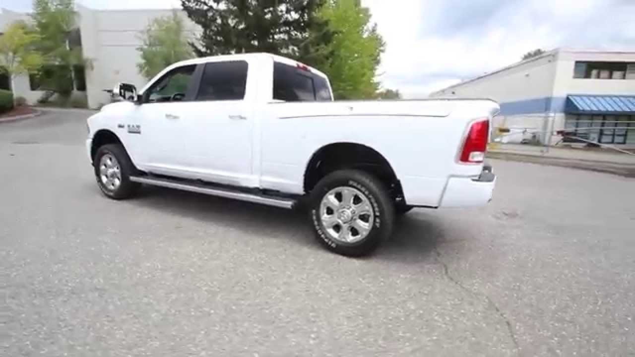 2015 dodge ram 2500 limited longhorn white fg617874 redmond seattle youtube. Black Bedroom Furniture Sets. Home Design Ideas