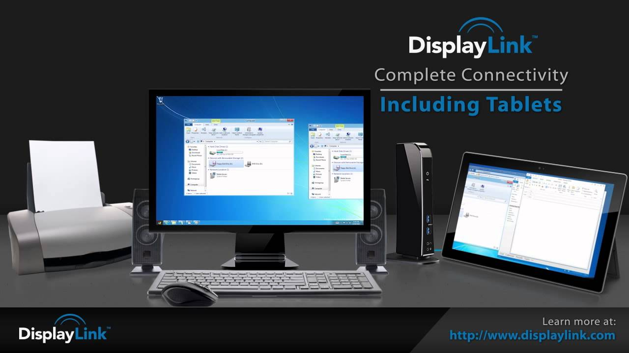 Displaylink Technology In Universal Docking Stations Youtube