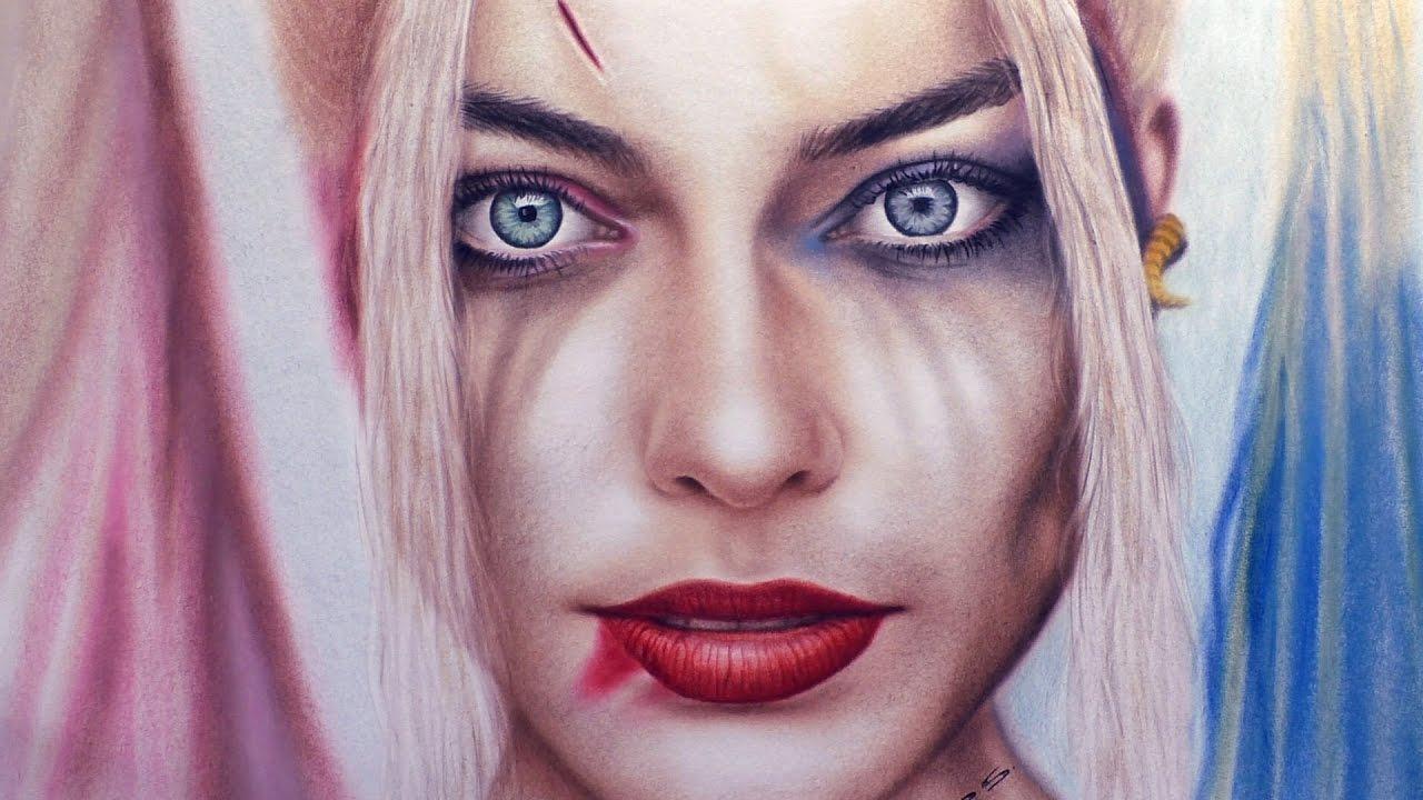 Harley Quinn Kawaii Para Colorear: Harley Quinn Dibujar Retrato