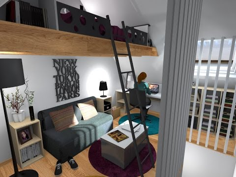 comment faire une mezzanine doovi. Black Bedroom Furniture Sets. Home Design Ideas