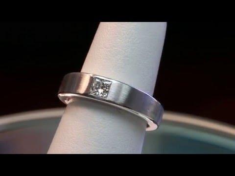 princess cut diamond men's gold ring